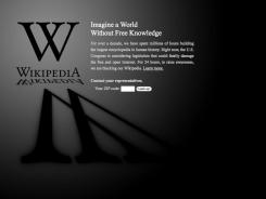 Wikipedia blacked-out their website Wednesday announcing a 24-hour protest against proposed legislation in the U.S. Congress.