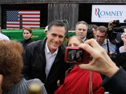 Mitt Romney campaigns in Gilbert, S.C., on Friday.