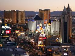 Las Vegas Strip: Its 41 casinos have seen an uptick in gambling revenue in recent months.