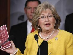 U.S. Rep. Diane Black, R-Tenn., speaks on Capitol Hill in this Nov. 3, 2011, file photo.