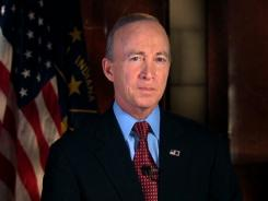 Indiana Gov. Mitch Daniels delivers the Republican response to President Obama's State of the Union Address on Tuesday.