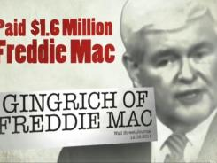 A screengrab of an ad run by Mitt Romney's campaign against Newt Gingrich.