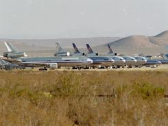Airplanes are shown at the Mojave Airport in Mojave, Calif., in this 2001 file photo.