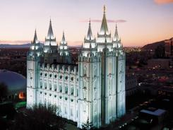 Salt Lake Temple in Salt Lake City.