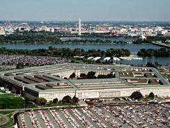 This undated photo from the U.S. Department of Defense shows an aerial view of the Pentagon in Washington.