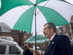 Dr. William Petit Jr. arrives at the New Haven, Conn., courthouse on Friday for the sentencing of Joshua Komisarjevsky.
