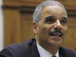 Attorney General Eric Holder testifies on Capitol Hill on Dec. 8, 2011, before the House Judiciary Committee hearing on the controversial Operation Fast and Furious gun-sting program.