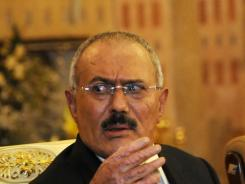 Yemen's President Ali Abdullah Saleh has arrived in London and will leave later Saturday for New York for medical treatment.
