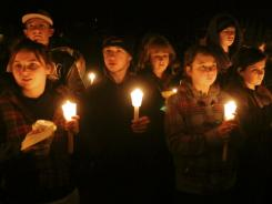 2010 vigil: South Hadley, Mass., remembers Phoebe Prince, who hanged herself that year.