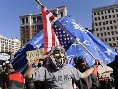 Occupy Wall Street protesters in Washington rally in McPherson Square Monday, bracing for new rules from city officials.