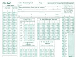 A Claremont McKenna College official admitted to falsifying SAT scores to publications to inflate the school's image. Pictured: A 2002 SAT test book.