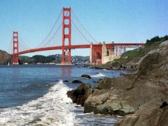 The Golden Gate Bridge, as seen from Bakers Beach in the Golden Gate National Recreation Area in this file photo.