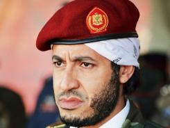 Al-Saadi Gadhafi, son of the late Libyan leader, is shown in this undated handout photo.