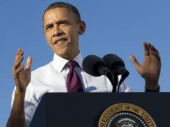 President Obama visits Intel's Ocotillo Campus in Chandler, Ariz., on Jan. 25. A controversial photo of him was posted days before his visit.
