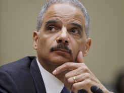 Attorney General Eric Holder testifies on Capitol Hill, Feb. 2.