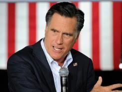 Mitt Romney campaigns in Las Vegas on Wednesday.