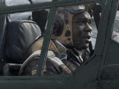 "David Oyelowo plays Tuskegee Airman Joe ""Lightning"" Little in ""Red Tails,"" a new George Lucas feature film."