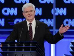 Debate: Newt Gingrich in Jacksonville Jan. 26.