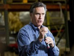 Romney: Campaigning in Eagan, Minn., on Wednesday.