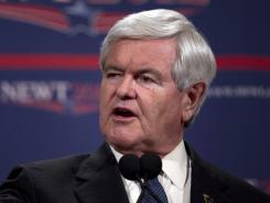 Republican presidential candidate former House Speaker Newt Gingrich speaks during a news conference Feb. 4 in Las Vegas.