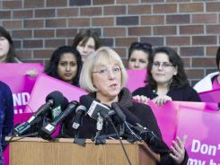U.S. Sen. Patty Murray (D-Wash.) speaks during a press conference at a Planned Parenthood Clinic last week in Seattle, Wash.