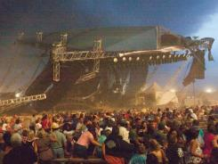 A view of the deadly stage collapse at the Indiana State Fair in August 2011. The stage fell just before country duo Sugarland were scheduled to perform.