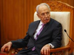 """""""We were not born enemies, and there is no need to live as enemies,"""" Israeli President Shimon Peres said to Iran."""