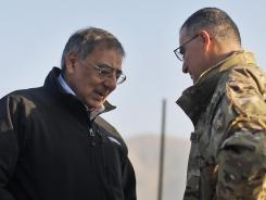 Defense Secretary Leon Panetta, left, speaks with Lt. Gen. Curtis Scaparrotti, commander of the ISAF Joint Command and deputy commander of U.S. forces in Afghanistan, in Kabul in 2011.