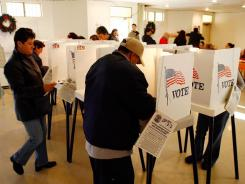 Voters go to the polls in Los Angeles in 2008.