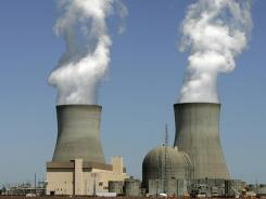 Steam rises at Georgia Power's Plant Vogtle in Waynesboro, Ga., in April 2010. On Thursday, the NRC approved a request to build two new reactors at Plant Vogtle.