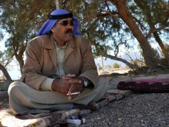 Sheik Sleiman El-Sakhan, leader of the Muzainah tribe, sits in his Bedouin compound in the Red Sea city of Nuweiba, along the eastern Sinai coast.