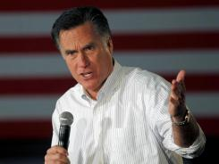 Mitt Romney speaks in Atlanta on Wednesday, the day after losing three state contests to Rick Santorum.