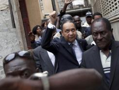 A January 2011 photo of Haiti's ex-dictator Jean-Claude Duvalier, who has avoided human rights charges after a judge's investigation that was riddled with mistakes, lacked solid evidence or testimony and featured a parade of prosecutors.