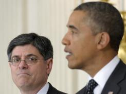 President Obama announces on Jan. 9 that Jack Lew became his chief of staff.