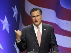 Mitt Romney addresses the Conservative Political Action Conference in Washington on Friday.