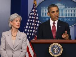 Obama and Sebelius: Discuss changes on Friday.