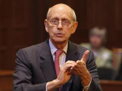 U.S. Supreme Court Justice Stephen Breyer speaks in Richmond, Va., on Oct. 6, 2011.