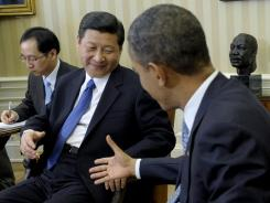 President Obama meets with Chinese Vice President Xi Jinping on Tuesday in the Oval Office.
