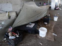 Encampment: On any given night, 636,000 people are homeless.
