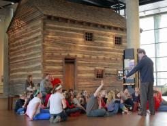 Fifth grade students from Middletown, Ohio, tour the National Underground Railroad Freedom Center in December.