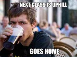 "Variations of the ""Lazy College Senior"" meme represents the trend's most popular: plain white text superimposed on a portrait of some recognizable character, either from pop culture or the meme culture itself."