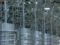 An image grab from a recent broadcast on the state-run Press TV shows centrifuges at Iran's Natanz nuclear site.