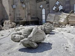 The Washington National Cathedral shows damage on Aug. 24, a day after a magnitude-5.8 earthquake shook Washington and much of the East Coast.