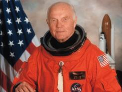 Glenn: Astronaut again in 1998.