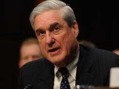 FBI Director Robert Mueller is seen here testifying Jan. 31 on Capitol Hill.