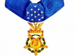 For valor: The Medal of Honor.