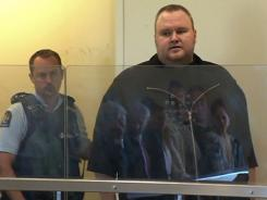 Megaupload founder Kim Dotcom, shown in court Jan. 25, was released on bail in New Zealand.