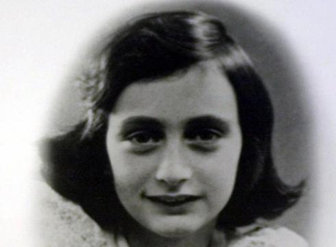 Photo of anne frank on display at the holocaust museum in houston