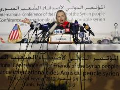 Secretary of State Hillary Rodham Clinton predicted on Friday an internal coup in Syria.