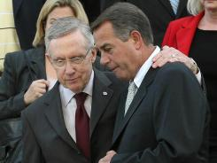 Senate Majority Leader Harry Reid and House Speaker John Boehner in September.
